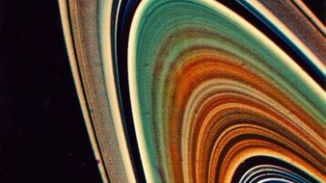 Saturns rings pic captured by satellite